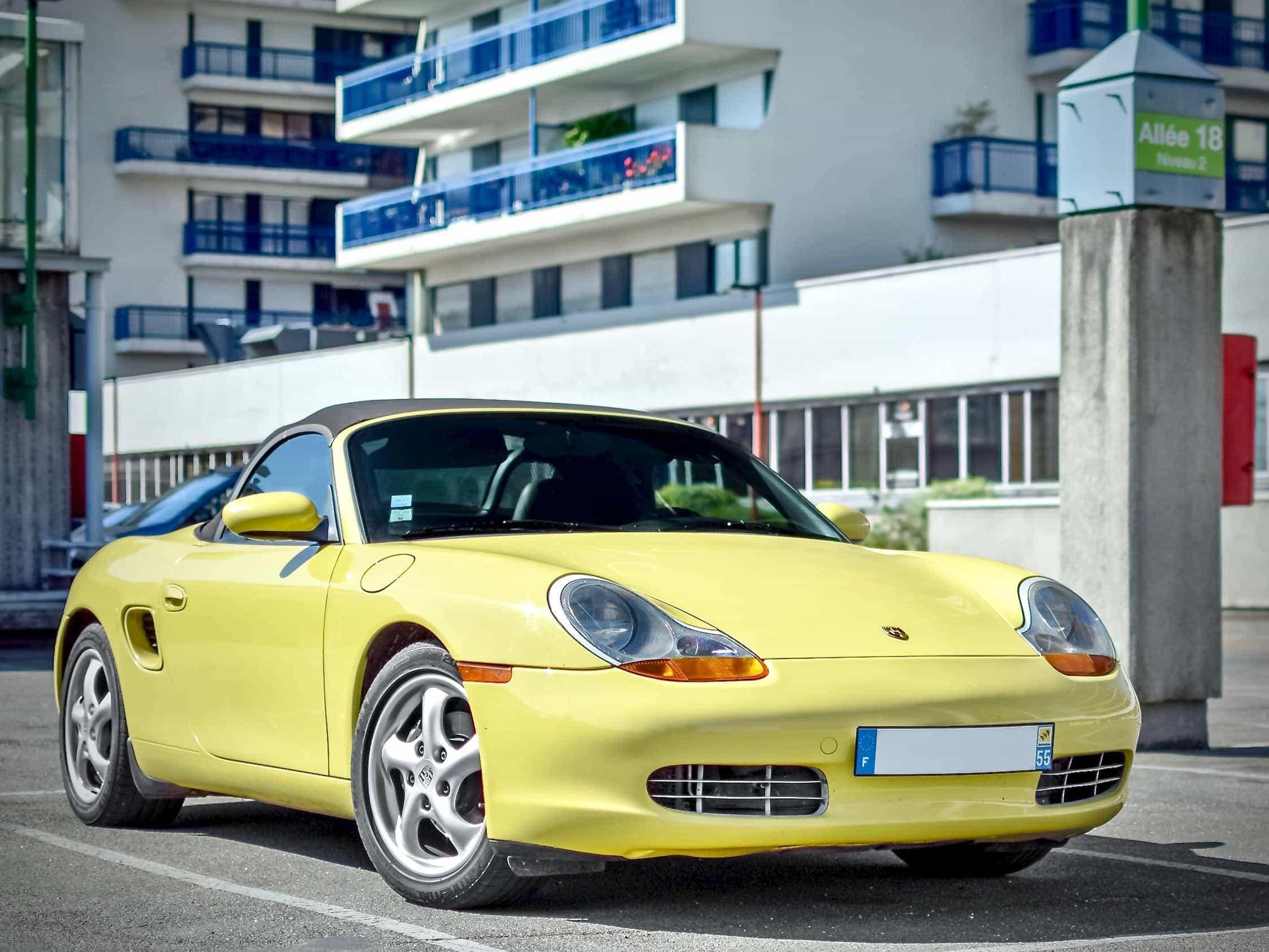 Yellow Porsche Boxster 986 color