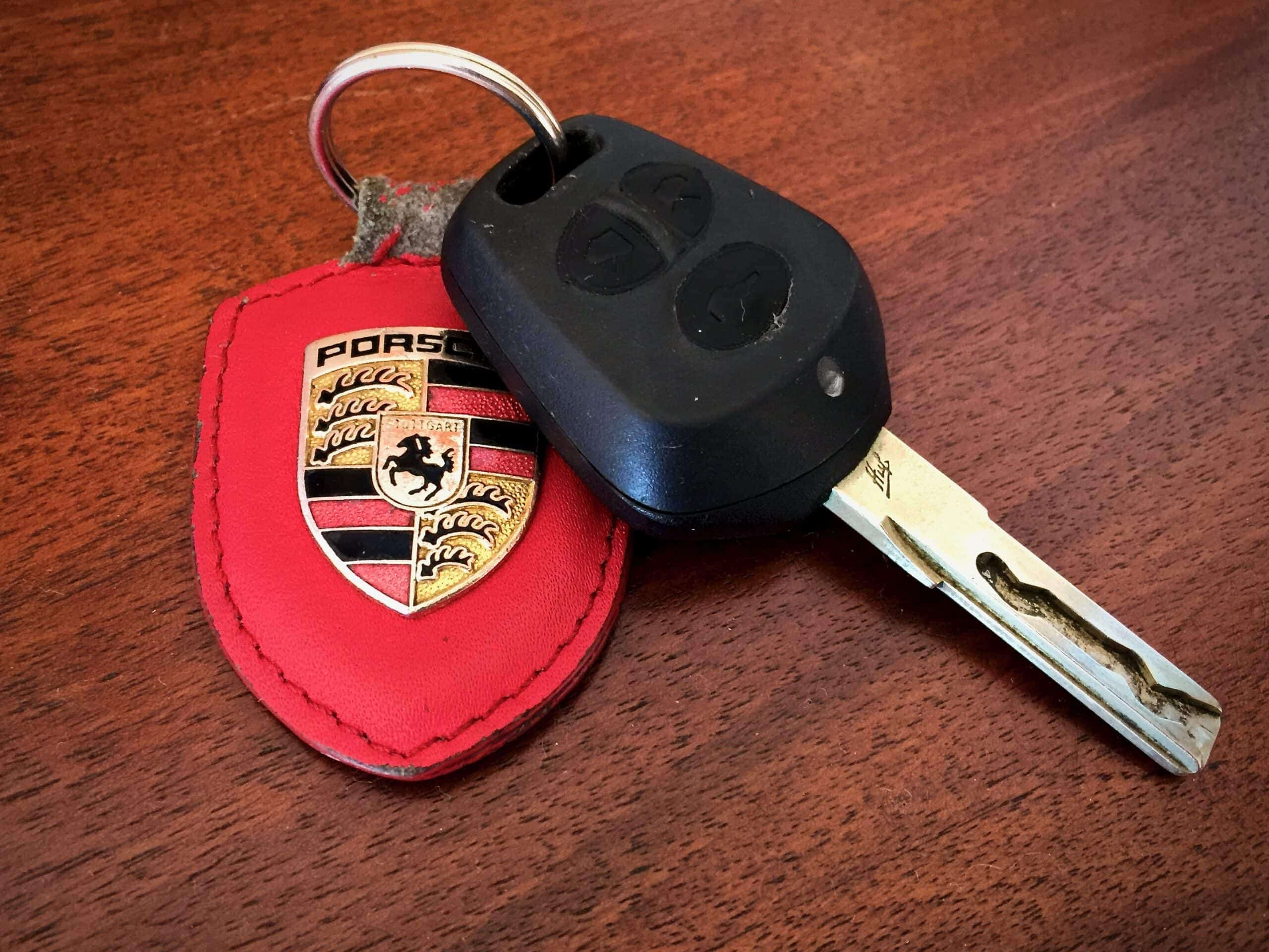 986 Boxster key fob and ring
