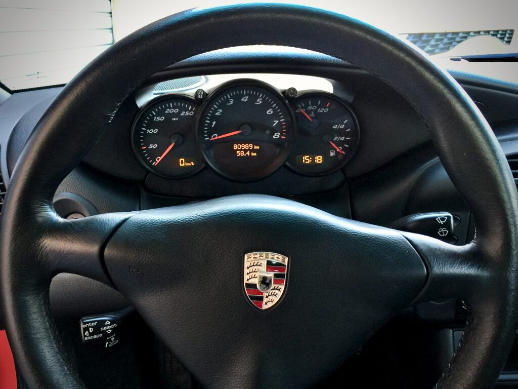 Boxster 986 3-spoke steering wheel