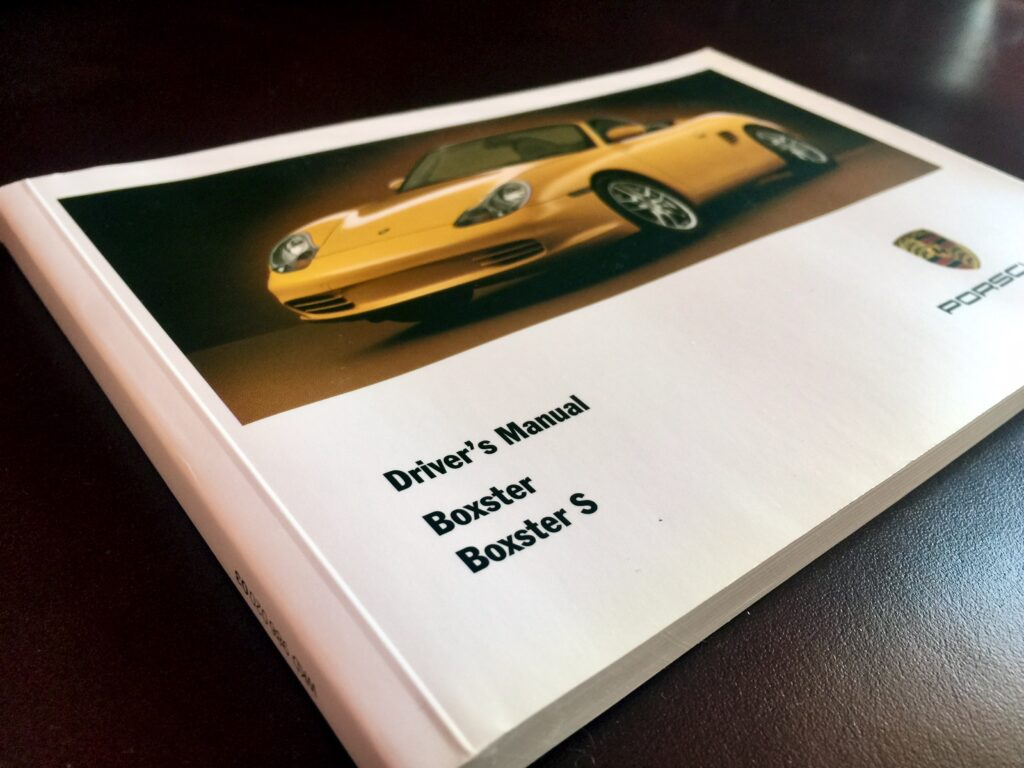 Porsche owners manual