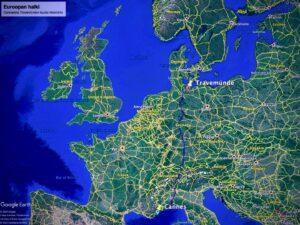 Autolla Euroopan halki