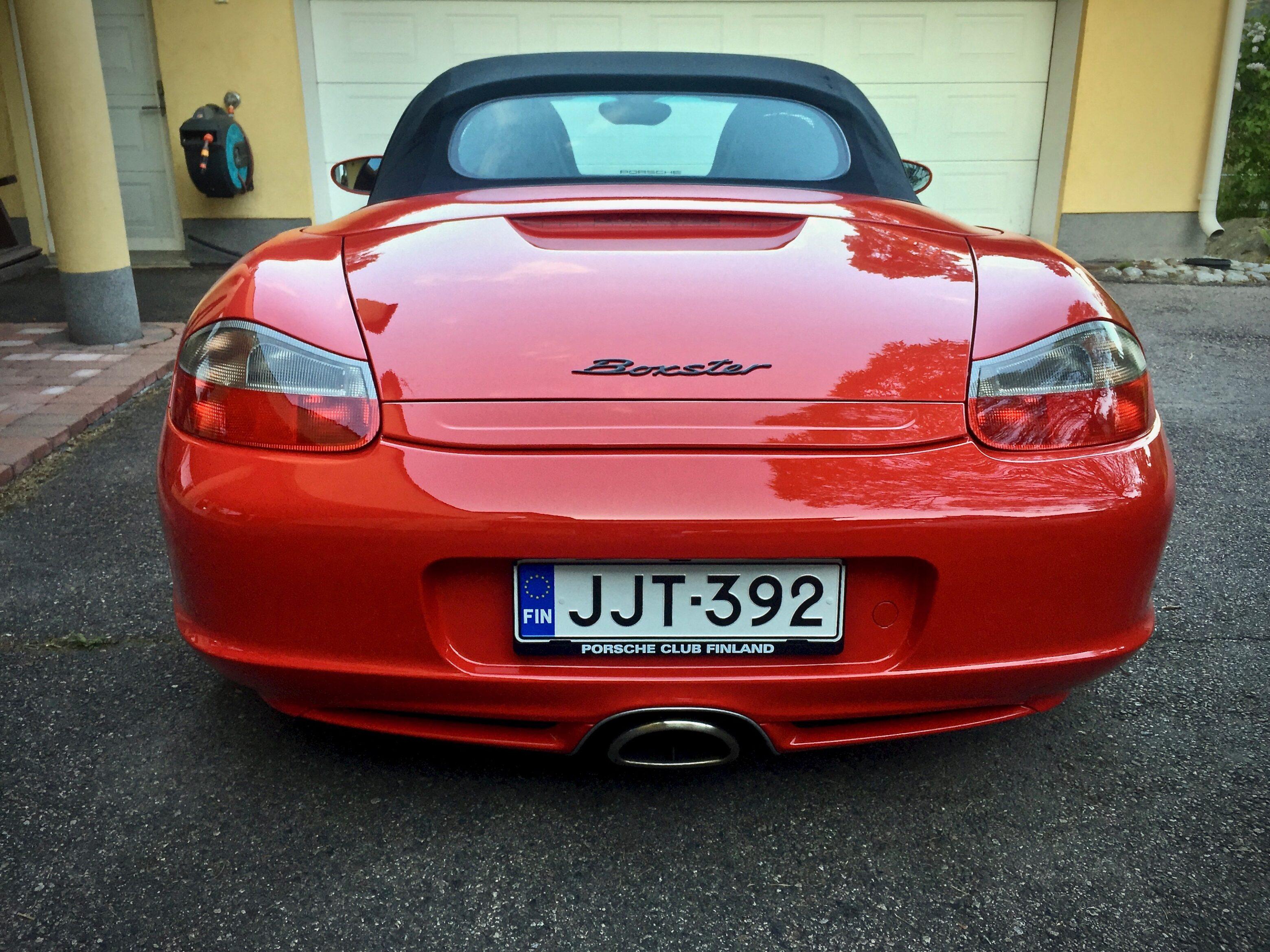 Myytävänä Porsche Boxster 986 Facelift manuaali kuomu taka