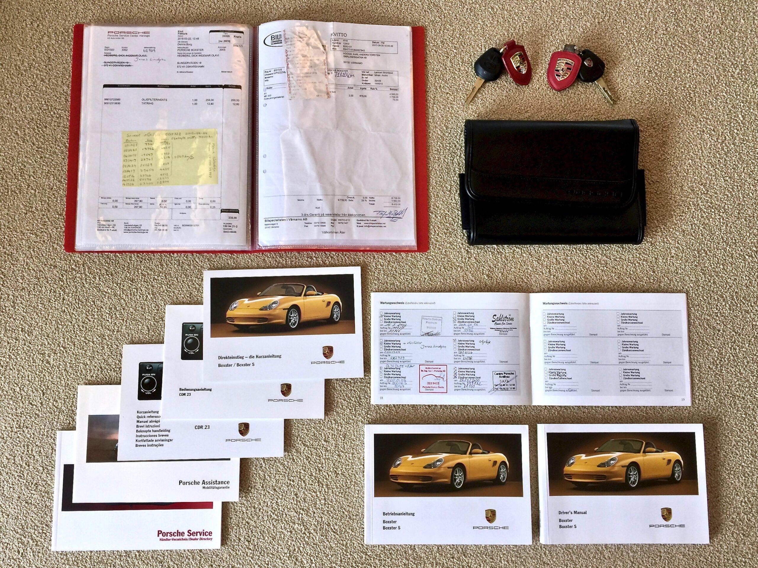 Porsche Boxster paperit